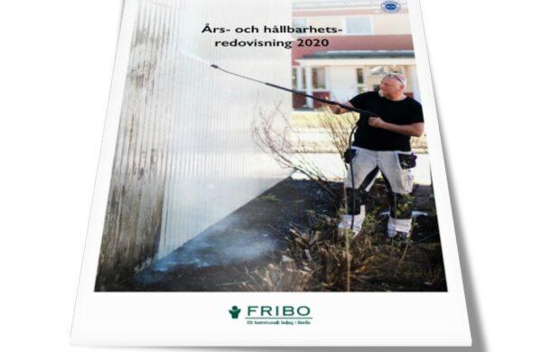 Framsidan på Års- & Hållbarhetsredovisning 2020